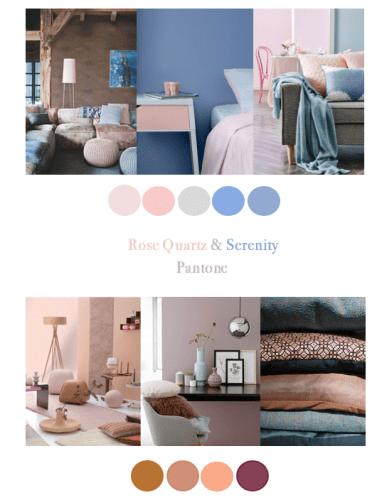 Rose Quartz en Serenity zijn de kleuren voor 2016 van Pantone.