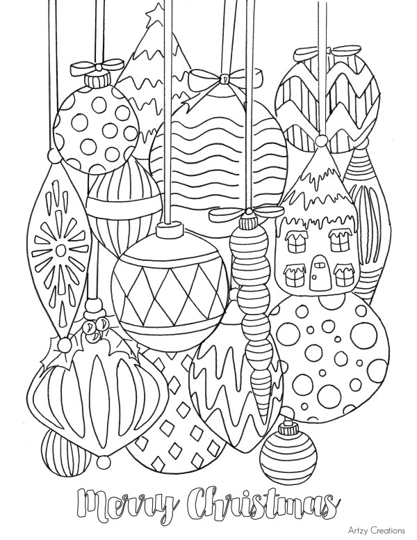 christmas ornament coloring page # 4
