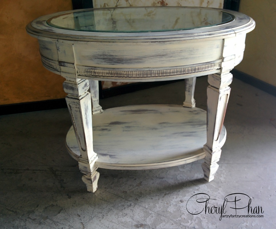 Distressed Table Faux Finish Decorative Painting