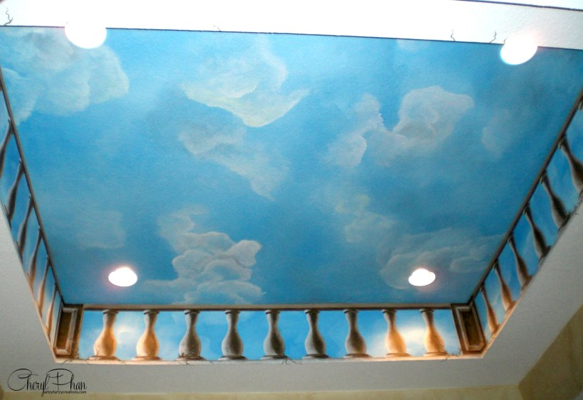 How To Paint Cloud Ceilings