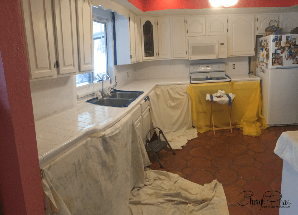 paint tile countertops in three easy