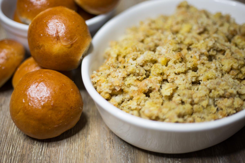Thanksgiving Menu-Dinnner Rolls and Stuffing