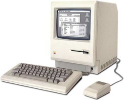 The first Macintosh Computer, also called Macintosh 128 kb. Source: http://apple-history.com/128k