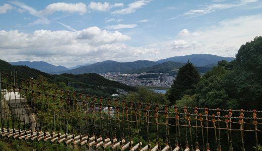 丸太アスレチック 三滝少年自然の家 吊り橋だけでも渡ってみては!?
