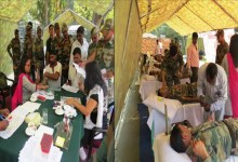 Photo of Army organized a Blood Donation Camp at Changsari
