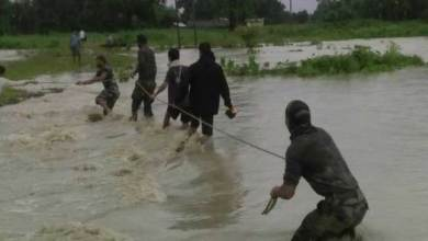 Photo of Army Rescued Flood Affected People in Chirang