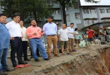 Photo of Itanagar-  CM Khandu Visits Landslide Site Near AG Building