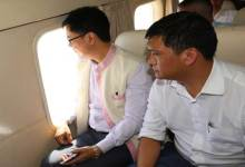 Photo of CM Khandu, MOs Rijiju Made Aerial Survey of Flood Affected Districts of Arunachal