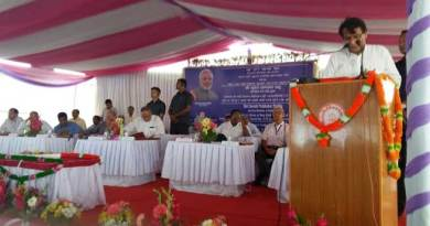 Prabhu Lays Foundation Stone of Imphal Railway Station