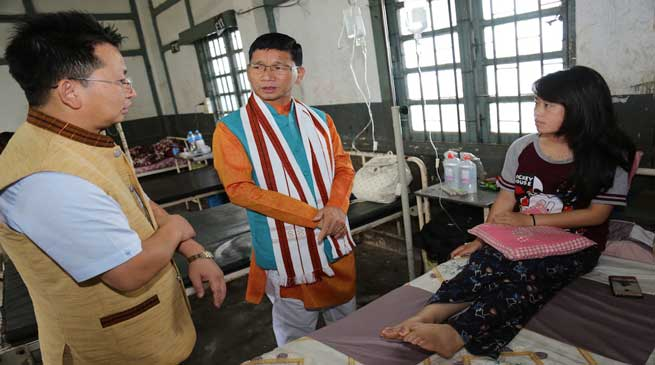 Chief Minister Kalikho Pul visits Ziro General Hospital