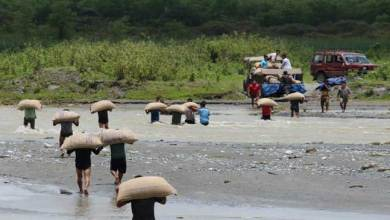 Photo of Arunachal- Young Boys Volunteer in Flood Affected Areas