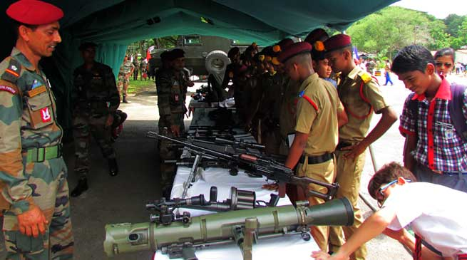 Army Organised Arms and Ammunition Exhibition at Narengi