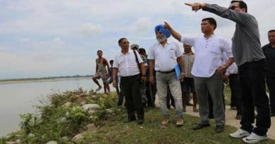 CM Khandu Visted Flood Affected Namsai District