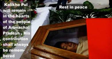 Last Homage to Former Chief Minister Late Kalikho Pul......