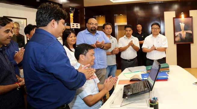 Itanagar- Chief Minister Pema Khandu Signed the First e-file