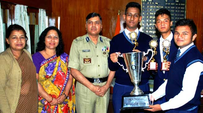 BSF Sr. Secondary School Shillong Wins Quiz Competition