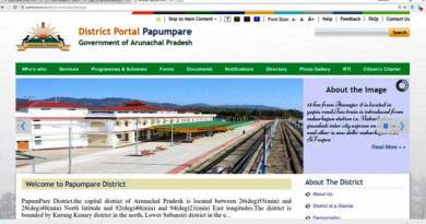 Arunachal Pradesh- New Website of Papum Pare District Launched