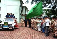 Photo of Itanagar- Khandu Flags off ITBPF-IMF Mt Kangto Joint Expedition 2016