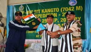 Itanagar- Khandu Flags off ITBPF-IMF Mt Kangto Joint Expedition 2016
