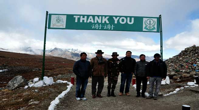 Dy CM Chowna Mein visited Bumla Pass