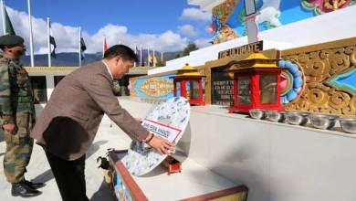 Arunacha Pradesh- CM Pema Khandu visits Tawang War Memorial