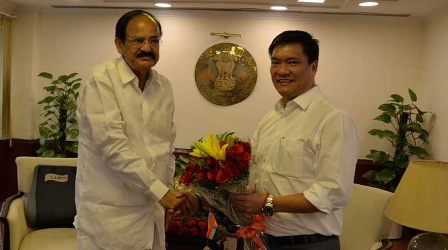 Khandu gets overall supports from Union Ministers