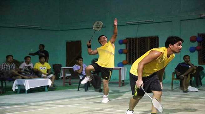 Men's Double Badminton Tournament of Namsai district begins