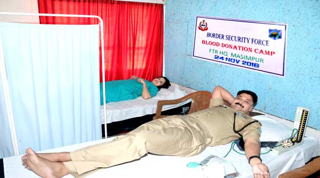 BSF Organised Blood Donation Camp