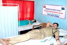 Photo of BSF Organised Blood Donation Camp at Masimpur