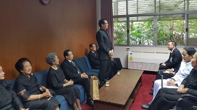 Chowna Mein attends as Royal Audience at Chitralada Palace in Bangkok