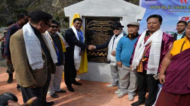 Khandu Lays Foundation Stone of Dikshi Hydro Electric Project
