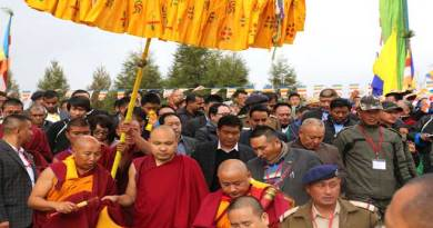 Tawang- His Holiness, The Karmapa given rousing reception