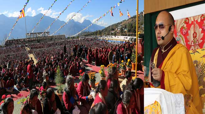 Thousands gathered at Tawang to listen to His Holiness spiritual talks