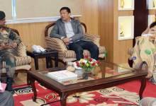 Arunachal CM Pema Khandu meets with Devraj Anbu, GOC 4 Corps
