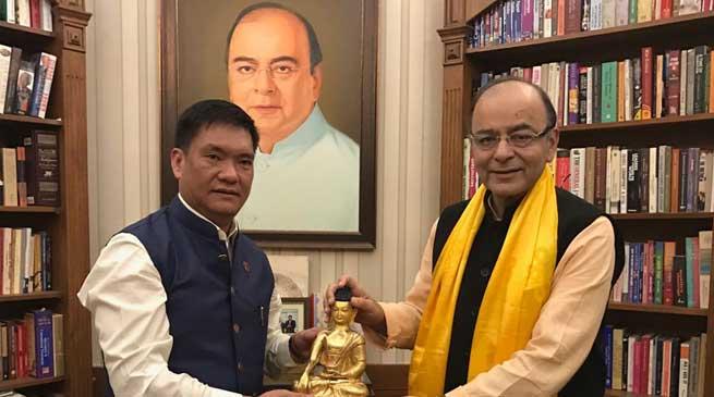 Arunachal CM Pema Khandu Meets FM Arun Jaitley