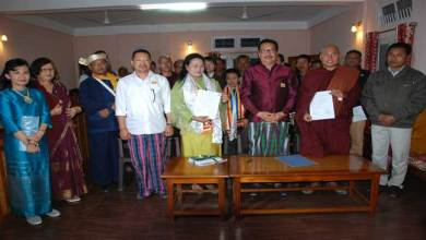 Photo of MoU signed Between SRRURDS Foundation of Thailand and Mahabodhi Lord Budha College of Namsai