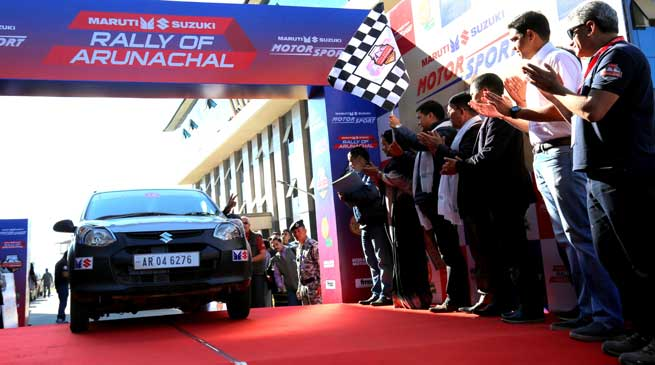 "Chief Minister Pema Khandu flags off ""Rally of Arunachal"""