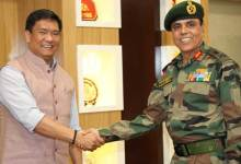 Photo of Corps Commander Lt Gen AS Bedi meets Chief Minister Pema Khandu