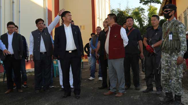 Khandu inspects ongoing works on NIT and Govt Law College in Jote