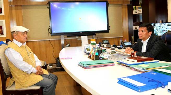 APSSC Chairman Tajom Taloh Called on CM Pema Khandu