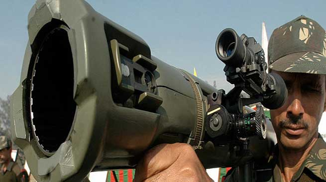 Tawang Garrison Organised Weapons Display for Students