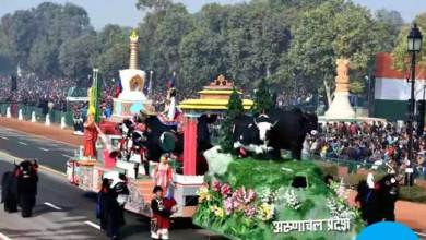 Photo of Team Arunachal 2nd Runner-UP in R-Day Tableau Contingents