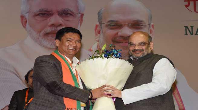 National Executive welcomes Pema Khandu into BJP Parivar