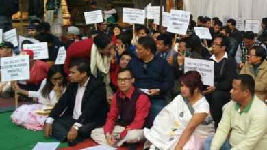 Photo of Sit-in-protest at Jantar Mantar against Economic Blockade in Manipur