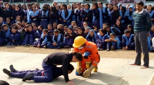 Aalo- National School Safety Programme held at Nehru HS School