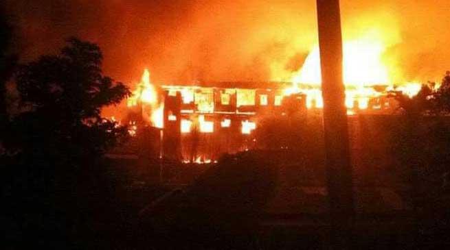 Nagaland- Violence in Kohima, mobs set on Fire Govt offices