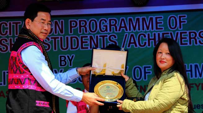 CALSOM Felicitate Meritorious Students of Mishmi Society