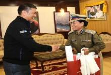 Photo of Arunachal- CM Pema Khandu meets DIG Sonam Yudron