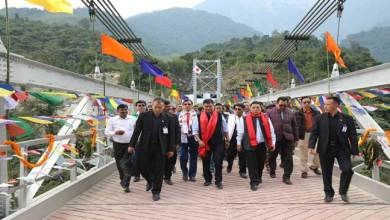Tuting-Khandu Inaugurated Steel Suspension Bridge at Kodak