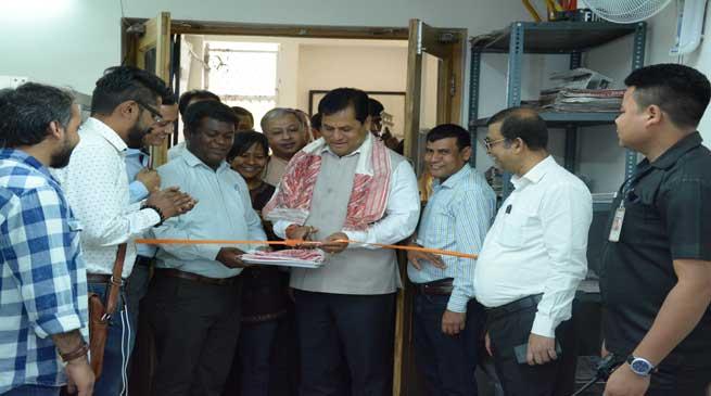 Sonowal inaugurates Press Lounge in New Delhi